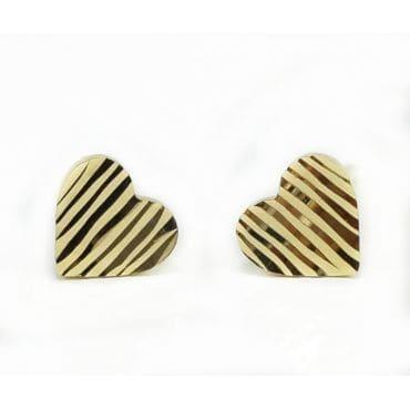Złote kolczyki serduszka