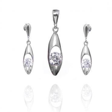 Elegancki komplet srebrny