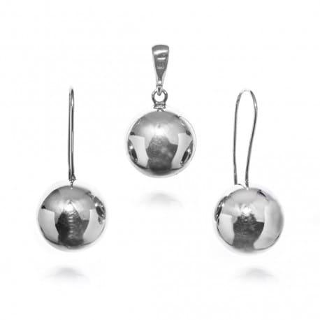 Srebrny komplet - srebrna kulka
