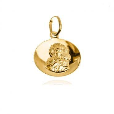 Medalik Matka Boska Częstochowska złoto 585