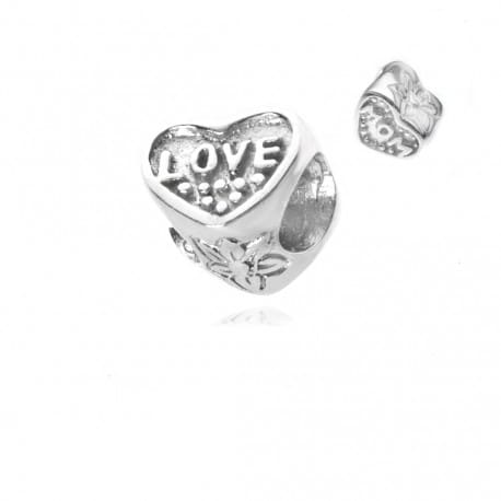 Zawieszka srebrna serduszko LOVE MOM