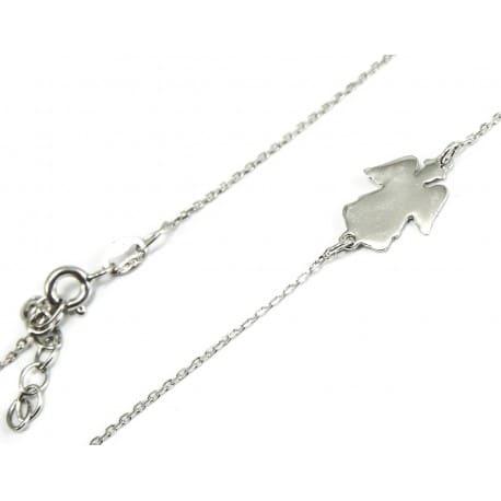 Celebrytka srebrna - aniołek