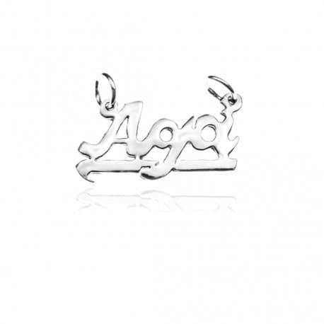 Zawieszka srebrna z imieniem AGA