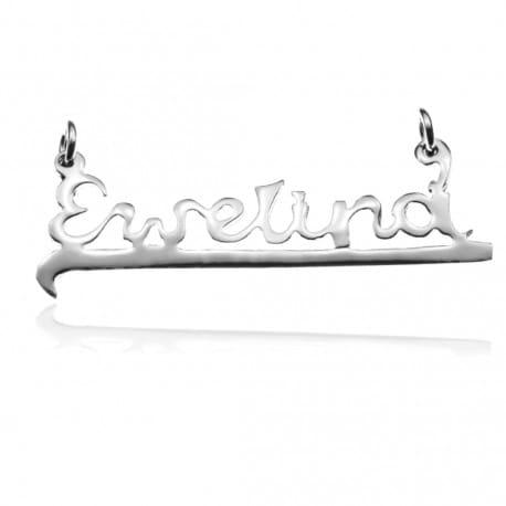 Zawieszka srebrna z imieniem EWELINA