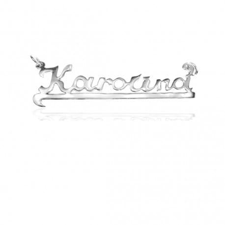 Zawieszka srebrna z imieniem KAROLINA