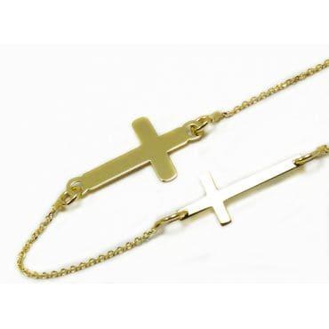 Złota Podwójna Celebrytka 333 Krzyżyk
