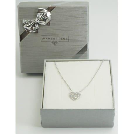 Bransoletka srebrna - ażurowe serce