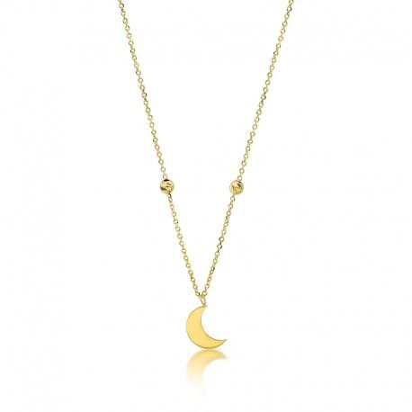 naszyjnik złoty księżyc