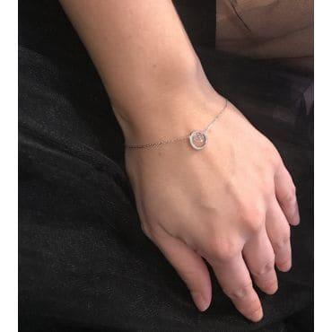 Bransoletka krążek z kryształkiem