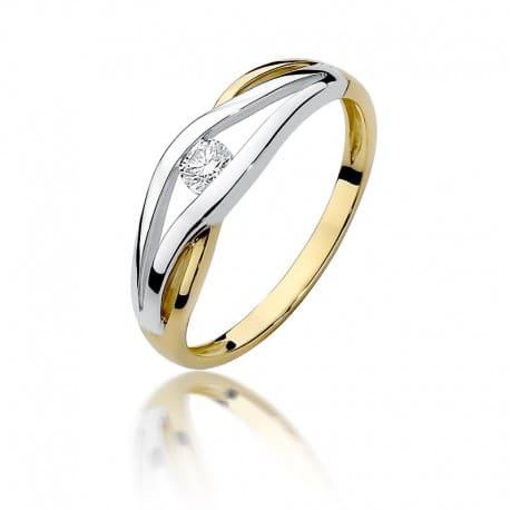 Pierścionek Zaręczynowy Z Brylantem Diament Plus