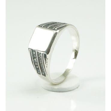Sygnet srebrny męski gładki