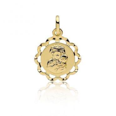 Złoty Medalik Matka Boska Częstochowska 585