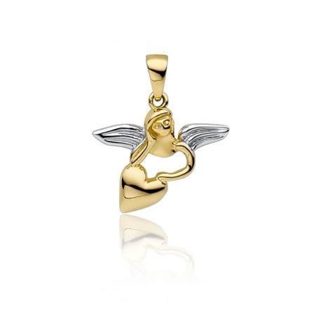 Złoty wisiorek aniołek 585
