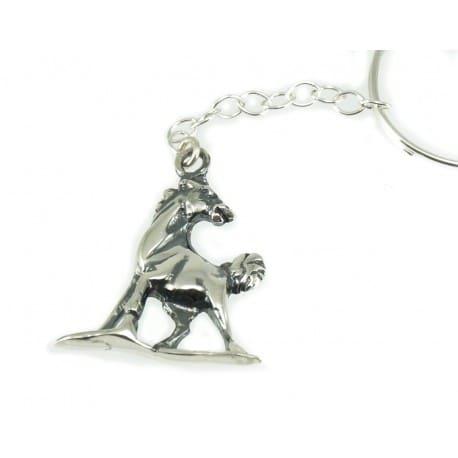 Srebrny brelok do kluczy - konik