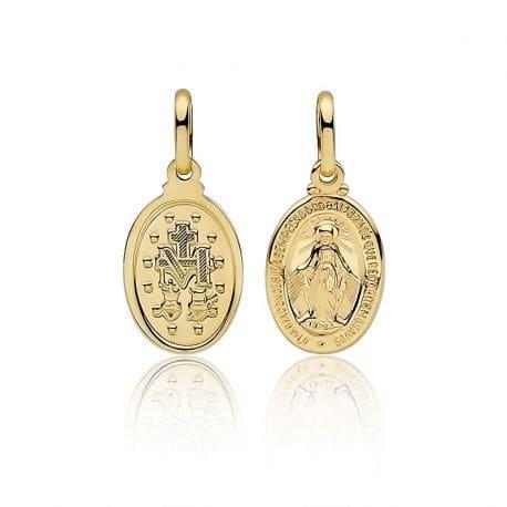 Medalik Matka Boska złoto 333