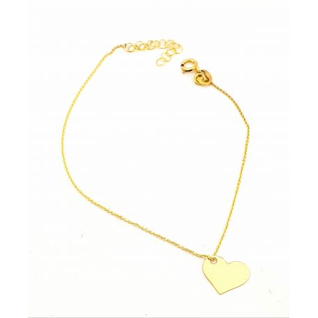 Złota bransoletka pr. 333 serce