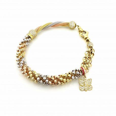 Wyjątkowa złota bransoletka pr585