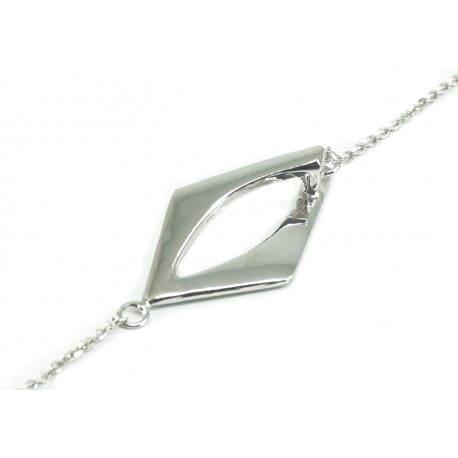 Bransoletka srebrna - wzór geometryczny