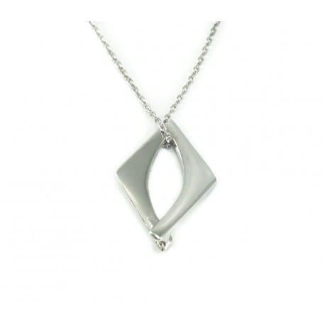 Naszyjnik srebrny z modnym wzorem geometrycznym