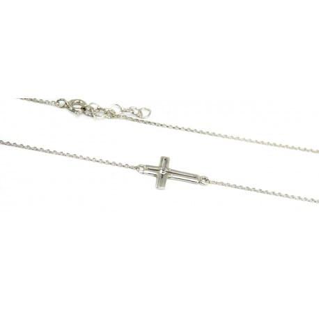Celebrytka srebrna - krzyżyk