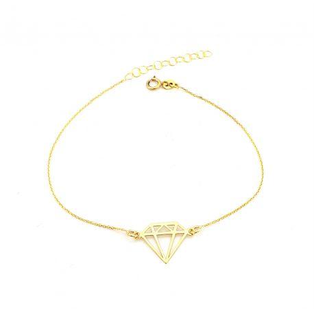 Złota bransoletka 333 DIAMENT