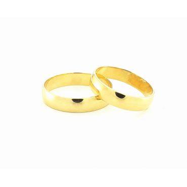 Złote obrączki klaszyczne 4 mm