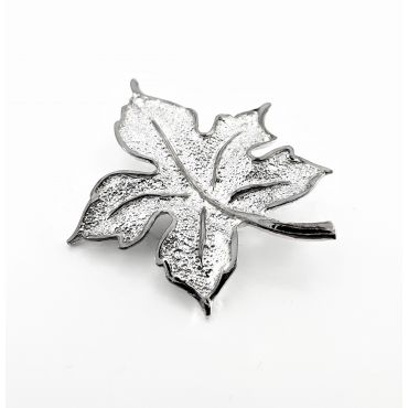 piękna srebrna broszka LIŚĆ
