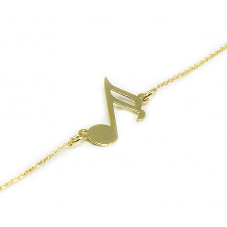 Złota bransoletka 585 NUTKA