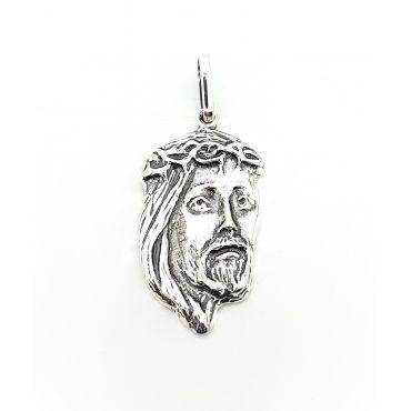 Krzyżyk medalik głowa Jezusa