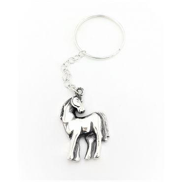Srebrny brelok koń