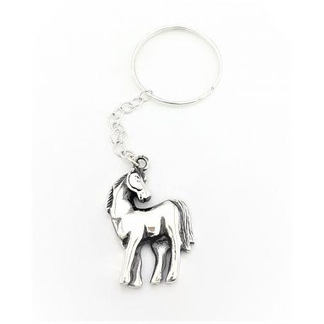 Srebrny brelok do kluczy - koń