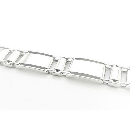 Oryginalna piękna srebrna męska bransoletka