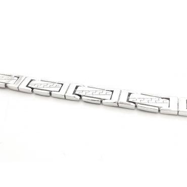 Oryginalna srebrna męska bransoletka