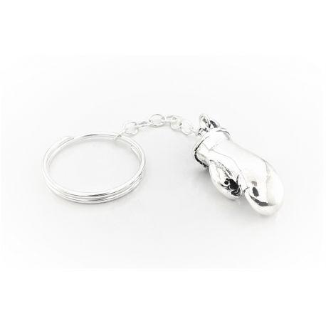 Srebrny brelok do kluczy - rękawica bokserska