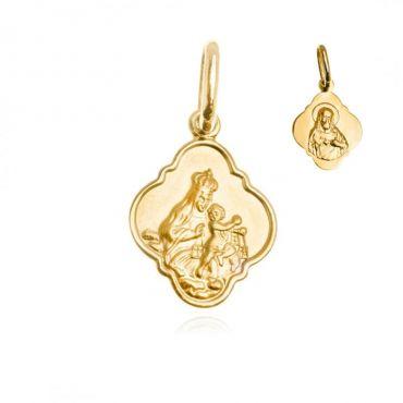 Medalik szkaplerz złoto 333