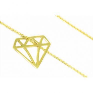 Złota celebrytka 585 DIAMENT