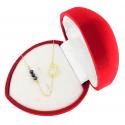 Złota celebrytka 585 SERCE z kryształami