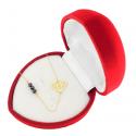 Złota celebrytka 585 DIAMENT z kryształami