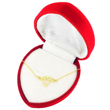 Złota bransoletka 585 DIAMENT