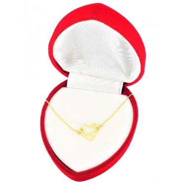 Złota bransoletka 585 SERCE