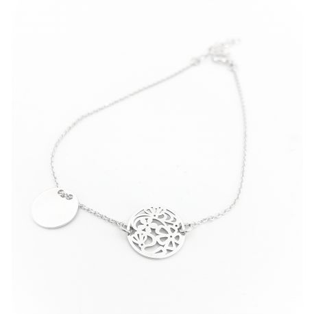 Piękna podwójna srebrna bransoletka