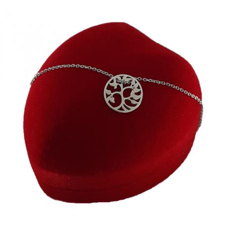 Piękna srebrna bransoletka ażurowe koło