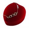 Naszyjnik srebrny - serce z cyrkoniami
