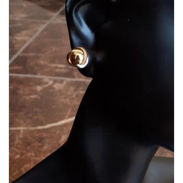 Wyjątkowe kolczyki supełki złoto pr 585