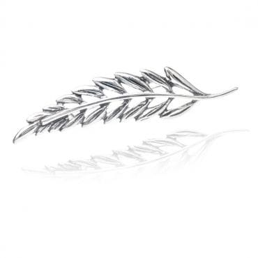 Piękna srebrna broszka GAŁĄZKA