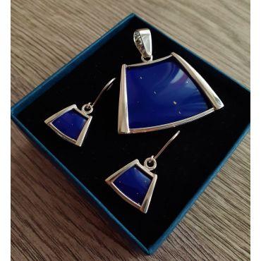 Srebrny komplet Lapis Lazuli