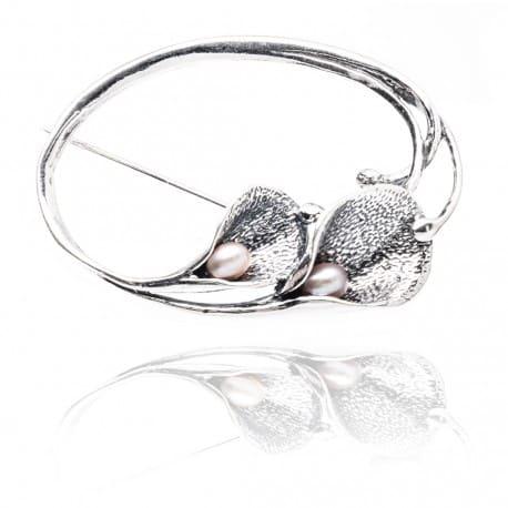 Piękna srebrna broszka KALIA