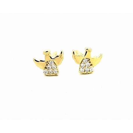 Złote kolczyki aniołki