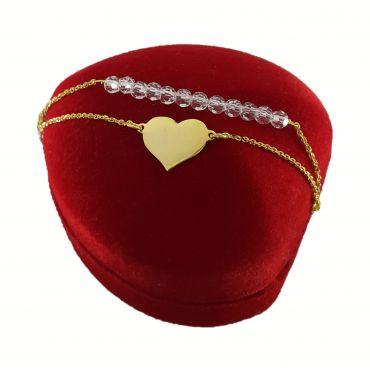 złoty naszyjnik serce